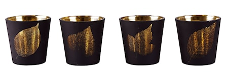 Bild av KJ Collection Ljuslykta med mönster Guld 7,5 cm