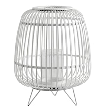 Lanterna BAMBU Ø 36x45 cm - Vit