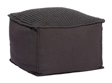 Bild av Hübsch Cotton hand-knit sittpuff