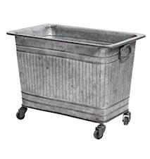 Raw metallbehållare på hjul