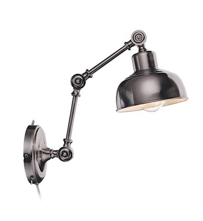 Bild av Markslöjd Grimstad Vägglampa Antik/Silver