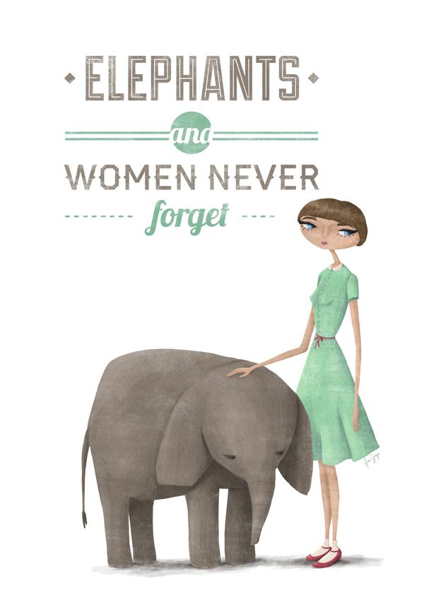 Elephants and women A3