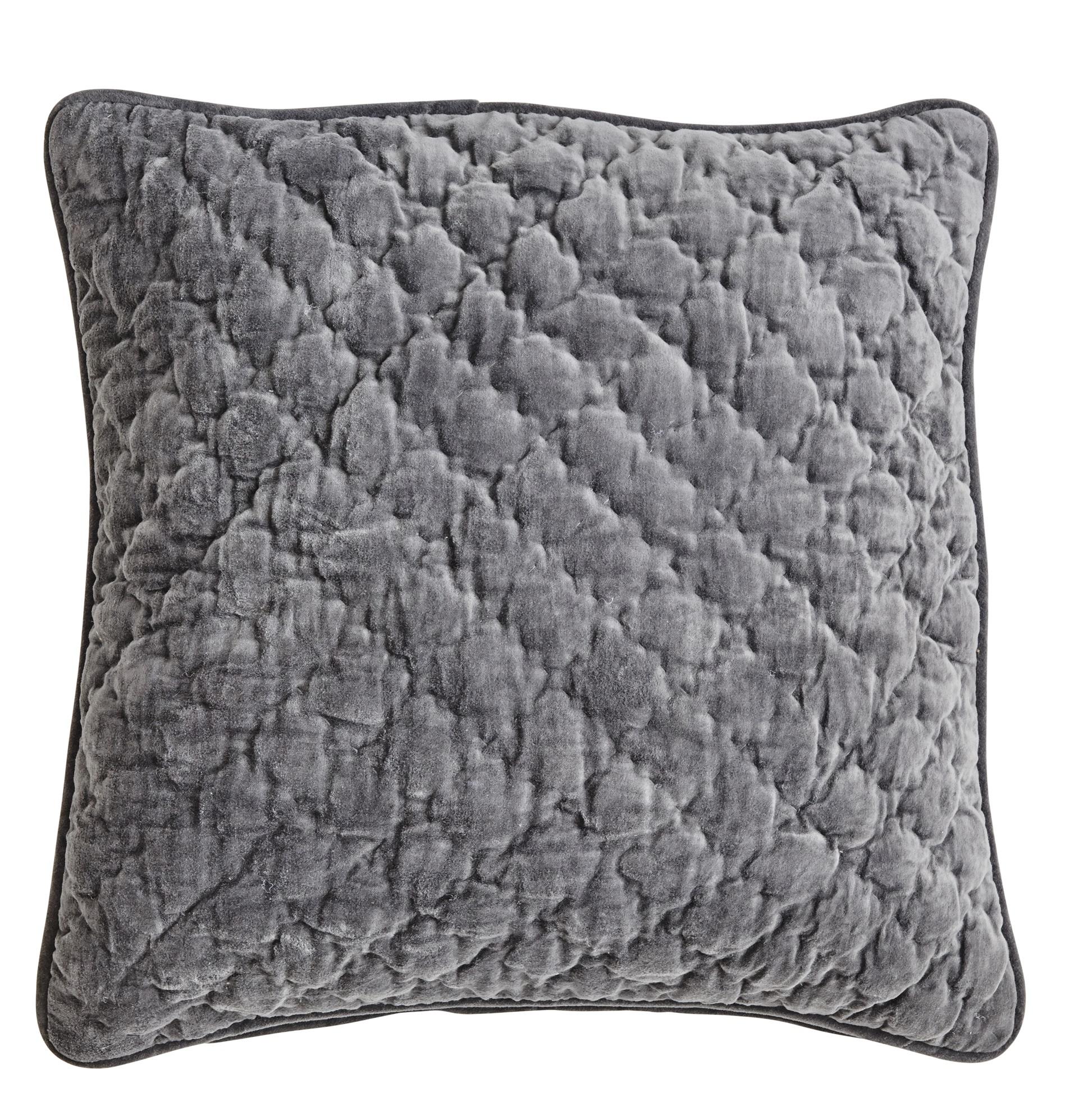 Velvet Quilted Kuddfodral 50x50 - Unblack