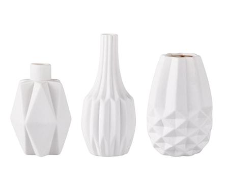 Vas Keramik Vit 12 cm