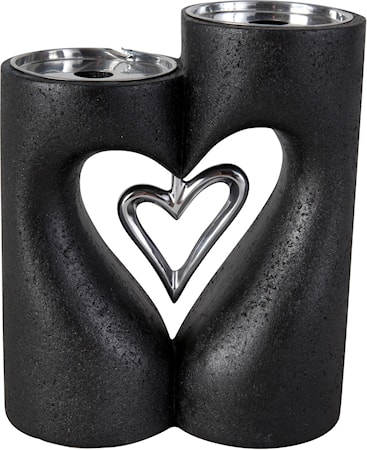 Bild av PR Home Love XL blockljusstake Svart 24 cm
