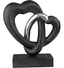 Love flow Figur Svart 23 cm