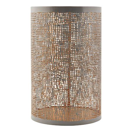 House Doctor Hessian tuikkulyhty harmaa/kulta k19,5 cm