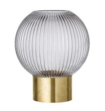 Vas Grey Glass Ø18x25 cm