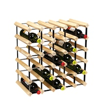 Metro Natural Wooden Wine Rack Kit - 30 Bottle
