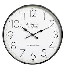 Metal wall clock - black antiquité