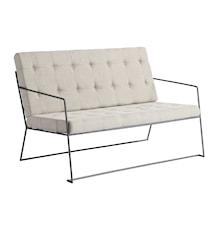 Sofa i metall med pute - Natur