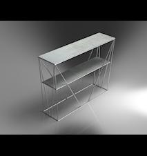 Cube tv-bord krom