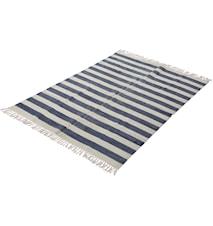 Matta tryckt 140x200 randig blå