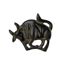 Stjärntecken Oxen, brons, servettring