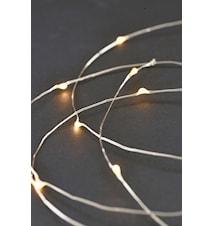 Lyskæde 80 lamper 10 m - Sølv