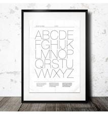 Alfabetet affisch