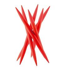 SPICY Knivstativ med 6 stk kjøttkniver Rød