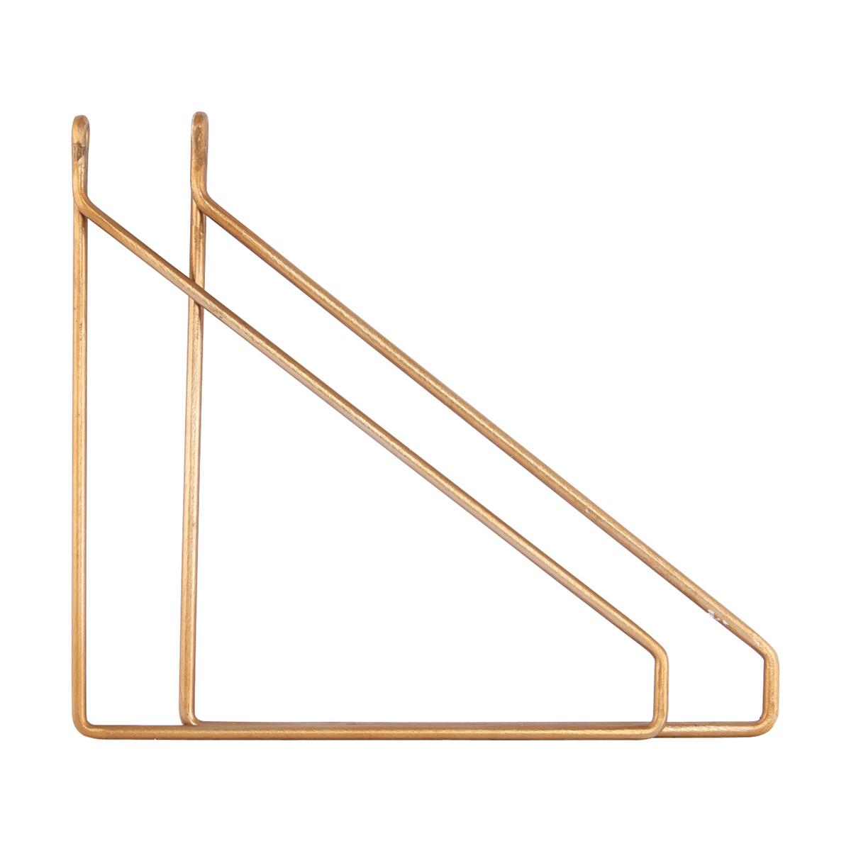 Apart Konsol 2-pack Mässingpläterad 25,5x26 cm