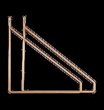 Apart Konsol 2-pakk Messingbelagt 25,5x26 cm