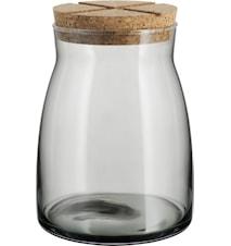 Burk med korklock 1,7 liter Grå