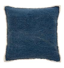 Pudebetræk Canvas 45x45 cm - Mørkeblå