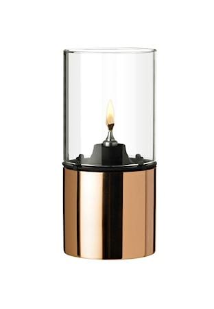 Stelton Oljelampa - koppar, klart lampglas