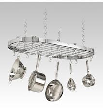 Hahn Premium oval takhängare 102x52x5 cm Krom