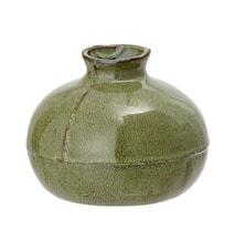 Vase Steintøy Grøn H11,5 cm