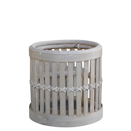 Cage lykta 20x20 cm Bambu