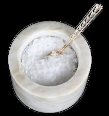 Saltkar Hvid marmor 11 cm Ø 10,5 cm