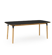 Form Bord Svart/Eik 95x200 cm