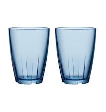 Bruk Blå Dricksglas Stor (2pack)