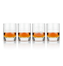 Admiral Etched whisky label crystal tumblers