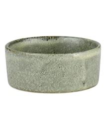 Skål mini Ø6cm Stengods Grön