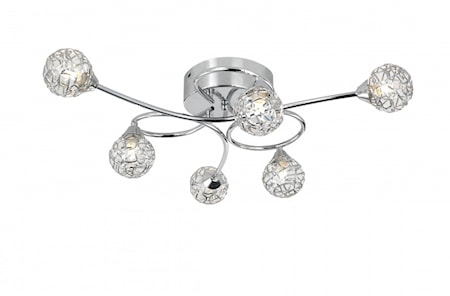 Excel Semi Flush Ceiling Light Chrome