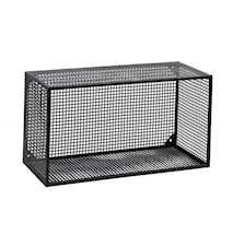 Wire Vägghylla rektangulär - Svart