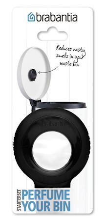 Perfume Your Bin – Start sett (holder + 1 kapsel) Black/Blomster