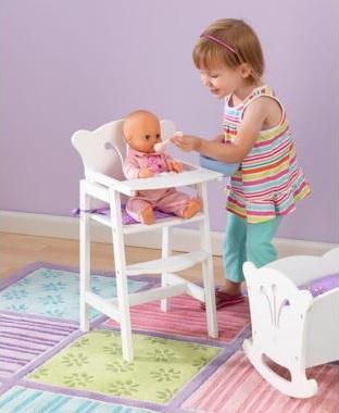 Lill doll barnmatstol