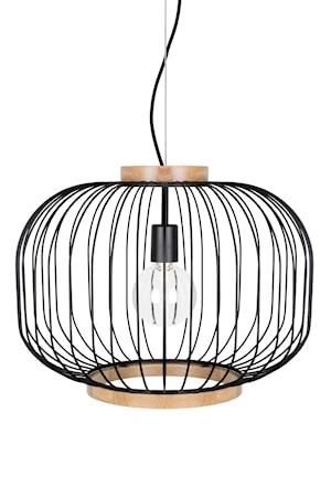 Bild av Globen Lighting Berlin taklampa XL – Mattsvart / Ask