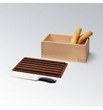 CRISPY Brødboks i Ask med Skjærefjøl 35cm