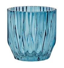 Blomkruka Glas Blå D 13,0cm H 13,0cm