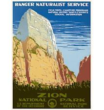 Ranger Naturalist Service poster