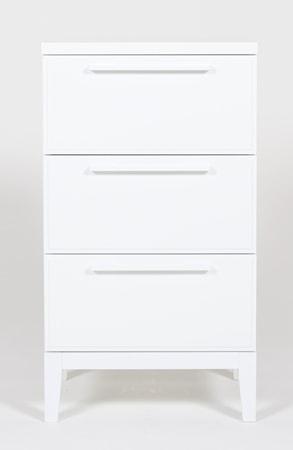Bild av Nurmela Loft liten byrå ? 3 lådor, vit