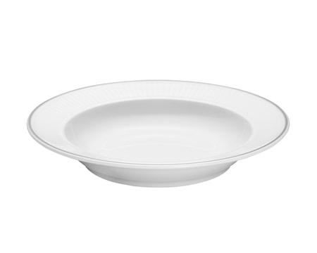Vienne Plissé tallrik djup vit 22 cm