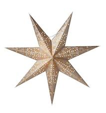 Ludwig Julstjärna 60 cm slim Silver/Guld