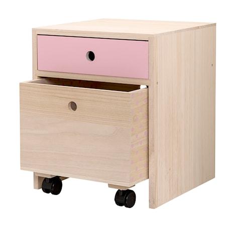 Bild av Bloomingville Sängbord Kejsarträ Rosa 35x42x35 cm