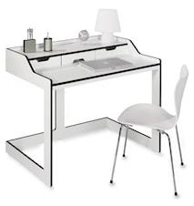 Plane Skrivbord - Vit/svart