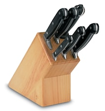 Knivblock Trä med 6 knivar