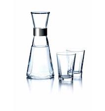 GC Sett: Vannkaraffel 1 stk., vannglass, 2 stk.
