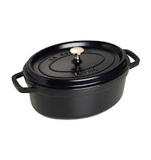 Oval Gryte 29 cm svart 4,2 L